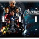 THE AVENGERS IRONMAN THOR SUPER POWER HULK TRIPLE LIGHT SWITCH WALL PLATE COVER