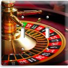 CASINO ROULETTE TABLE WHEEL DOUBLE LIGHT SWITCH WALL COVER MAN CAVE ROOM DECOR