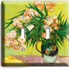 VINCENT VAN GOGH ART  FLOWERS VASE DOUBLE LIGHT SWITCH WALL PLATE NEW HOME DECOR