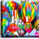 VIBRANT HOT AIR BALLOONS DOUBLE LIGHT SWITCH WALL PLATE HOME TRAVEL OFFICE DECOR