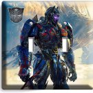 TRANSFORMERS AUTOBOTS OPTIMUS PRIME DOUBLE LIGHT SWITCH WALL PLATE COVER DECOR