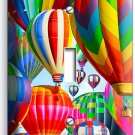 VIBRANT HOT AIR BALLOONS SINGLE LIGHT SWITCH WALL PLATE HOME TRAVEL OFFICE DECOR