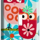 CUTE LITTLE OWLS SINGLE LIGHT SWITCH WALL PLATE KIDS BABY BEDROOM HOME ART DECOR