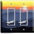 TENNESSEE SMOKY MOUNTAINS SUNRISE DOUBLE GFCI LIGHT SWITCH WALL PLATE HOME DECOR