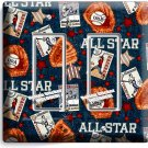 BASEBALL VINTAGE ALL STAR DOUBLE ROCKER LIGHT SWITCH POWER WALL PLATE ROOM DECOR