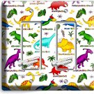 JURASSIC PERIOD DINOSAURS DOUBLE GFCI LIGHT SWITCH WALL PLATES KIDS ROOM DECOR