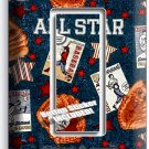 BASEBALL VINTAGE ALL STAR SINGLE ROCKER LIGHT SWITCH POWER WALL PLATE ROOM DECOR