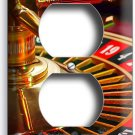 CASINO ROULETTE TABLE WHEEL OUTLE WALL PLATE COVER MAN CAVE GAME ROOM HOME DECOR