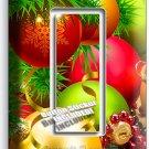 CHRISTMAS TREE BALL ORNAMENT SINGLE GFI LIGHT SWITCH WALL PLATE COVER HOME DECOR
