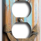 NAUTICAL ANCHOR RUSTIC WOOD LOOK OUTLET WALL PLATE BOYS BEDROOM ROOM HOME DECOR