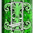 FLEUR DE LIS GREEN MARBLE SINGLE GFCI LIGHT SWITCH WALL PLATE WALL PLATE COVER