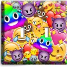 TEXT EMOJI RAINBOW POOP ALIEN DOUBLE LIGHT SWITCH WALL PLATE COVERS HOME DECOR