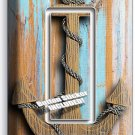 NAUTICAL ANCHOR RUSTIC WOOD LOOK SINGLE GFCI LIGHT SWITCH WALL PLATE ROOM DECOR