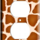GIRAFFE SKIN PATTERN ANIMAL PRINT OUTLET WALL PLATE BABY NURSERY ROOM HOME DECOR
