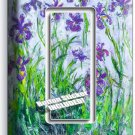 LILAC IRISES CLAUDE MONET PAINTING 1 GFCI SWITCH OUTLET WALLPLATE ROOM ART DECOR