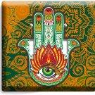 HAMSA EYE HAND OF GOD SPIRITUAL 2 GANG LIGHT SWITCH PLATE ROOM HOME STUDIO DECOR