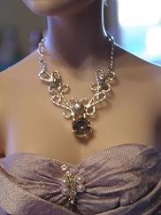 Custom Sterling Silver Filigree Doll Necklace