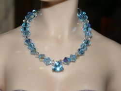 Icy Blue Topaz Sterling Silver Filigree Necklace