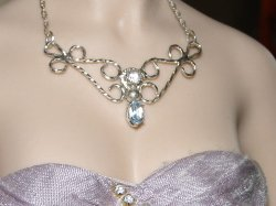 Sterling Silver Filigree with Swiss Blue Topaz
