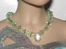 Faceted Moonstone Necklace