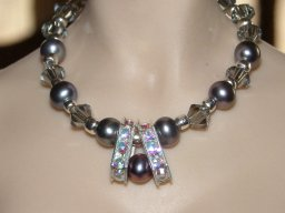 Black Pearls & Ice Necklace