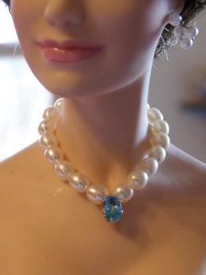 Stunning Blue Genuine Topaz Necklace Set