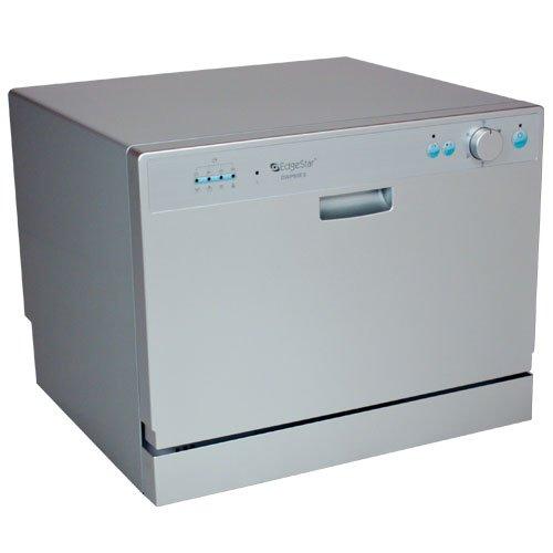 DWP60ES - EdgeStar Portable Countertop Dishwasher for Six Place Settings - Silver