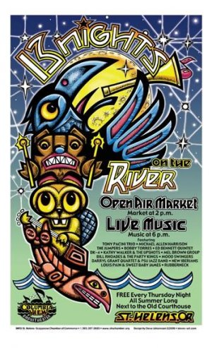 13 NIGHTS ON THE RIVER 2006 � FREE SUMMER CONCERT SERIES � ST.HELENS,OR