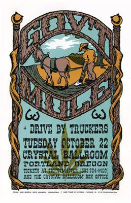 GOV'T MULE - CRYSTAL BALLROOM, PORTLAND, OR  10.22.2002 with DRIVEBY TRUCKERS