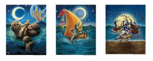 MUSICAL ANIMALS PRINTS SET of ALL 3