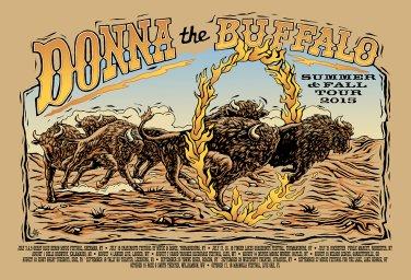 Donna the Buffalo Winter 2016 Tour Poster