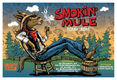 Smokin' Mule 2016 Fall Tour Poster