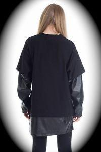 NEW nwt BLIZEDOUT Women Black T Shirt/Sweatshirt US Size L/Large ITALY/ITALIAN