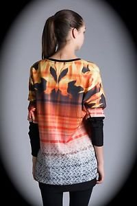 NEW nwt BLIZEDOUT Women T Shirt/Sweatshirt HEART Size L/LRG/Large ITALY/ITALIAN