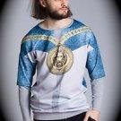 NEW nwt BLIZEDOUT Men LION/CHAIN T Shirt/Sweatshirt Size L/Large ITALY/ITALIAN