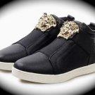 WOMEN Black Medusa High Top Hip Hop Casual Shoe/Boot/Sneaker Designer Style 10.5