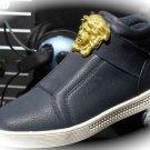 WOMEN Navy Medusa High Top Hip Hop Casual Shoe/Boots/Sneakers Designer Style 7.5
