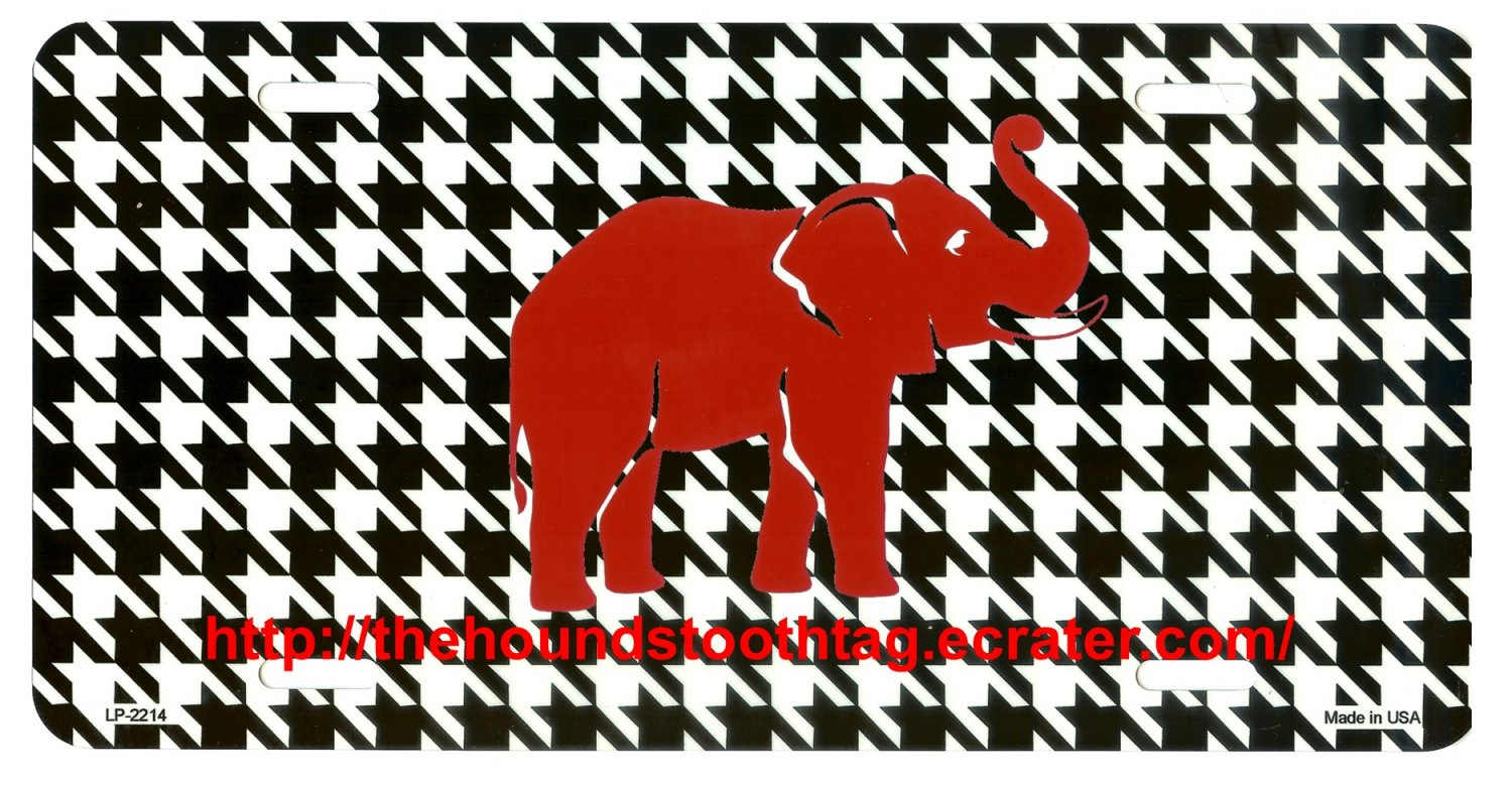 Houndstooth Alabama Car Tag