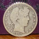 1907-D Barber Silver Half Dollar!!!
