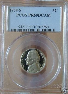 1978-S Jefferson Nickel  PR69DCAM PCGS!!!
