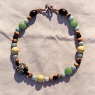The Seaside: 5 - Natural Beaded Pendant Necklace - Wood, Plastic, Onyx, Dyed Jade
