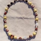 The Garden: 06 - Natural Beaded Necklace - Glass, Dyed Jade, Metal, Wood, Faux Pearl, Plastic