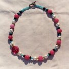 The Garden: 11 - Natural Beaded Necklace - Glass, Onyx, Faux Pearl, Dyed Jade, Plastic