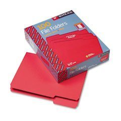 Smead File Folders Red Letter 12743 Box of 100 FREE SHIPPING