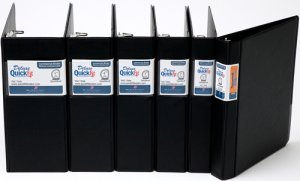 """QuickFit Commercial Binders 1.5"""" Black 29021 Qty 4 FREE SHIPPING"""