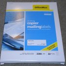 Office Max Copier Mailing Labels OM99055 FREE SHIPPING