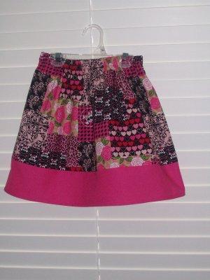 Skulls Heart Roses Twirl Skirt