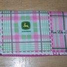John Deere Fabric Checkbook Cover