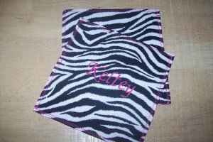 Monogrammed Zebra Print Hot Pink Wash Cloths