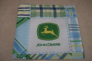 Blue John Deere Reusable Sandwich/Snack Bag
